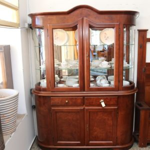 Curved Glass Collectors Cabinet