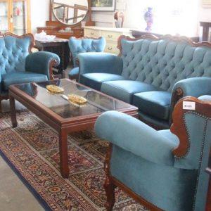 Wedgwood blue 5 piece lounge suite