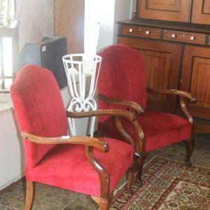 Red Velvet Armchairs (Price Each)