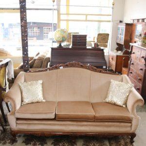 Velvet covered cedar lounge suite