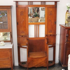 Art Deco maple hallstand