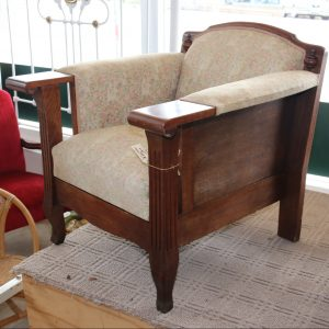 Large oak armchairs (pair of)