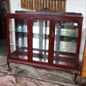 Glass and mirrored cedar china cabinet