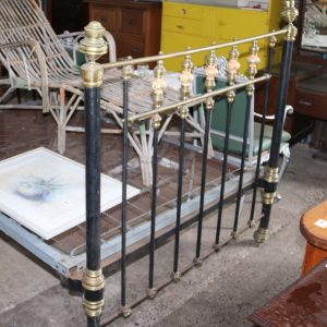 Iron and brass double bed