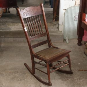 Oak spindle rocking chair