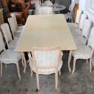 Italian resort style table an 10 chairs