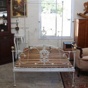 Double wrought iron lace bed