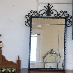 Wrought Iron Rectangular Mirror