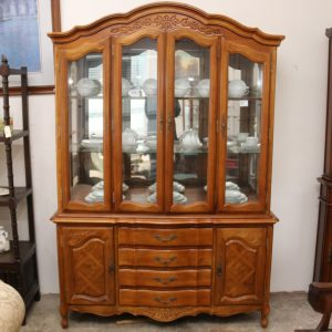 French Oak Elevated Display Case