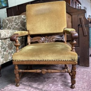 Oak Oversized Chair