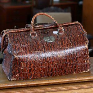 Crocodile Skin Gladstone Bag