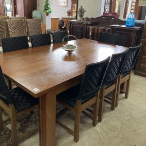 Hardwood Table and 8 Chairs