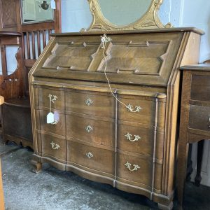 French Oak Fall Front Bureau