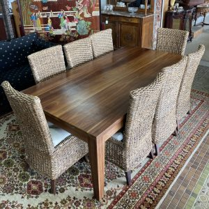 Dining Table and 8 cane chairs