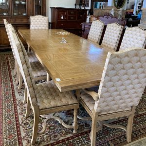 French Oak 9 Piece Dining